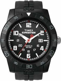 New Men's Timex Expedition Rugged Core Analog Resin Strap Watch Rugged Watches, All Black Watches, Stylish Watches, Watches For Men, Luxury Watches, Field Watches, Sport Watches, Durable Watches, Timex Expedition