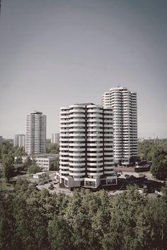Katowice- Osiedle Tysiąclecia Poland Cities, Socialist Realism, Wish You Are Here, Central Europe, Krakow, Seattle Skyline, San Francisco Skyline, Skyscraper, City