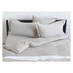 SKYE OATMEAL Oatmeal Egyptian cotton double duvet cover set