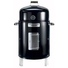 Brinkmann's bullet-shaped charcoal smokers are a popular and affordable choice.