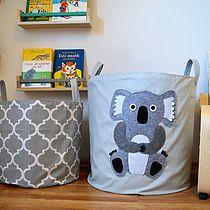 Toy storage basket/ laundry hamper with cute koala by MamaZooShop on Etsy Toy Storage Baskets, Textiles, Laundry Hamper, Toys, Handmade Gifts, Kid, Home Decor, Activity Toys, Kid Craft Gifts