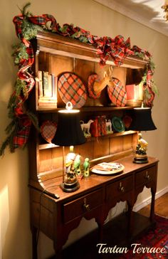 TartanTerrace: Decorating for Christmas: Lots of Tartan in the House!