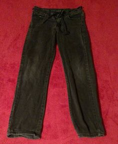 NSS Skinny Black Destroyed Girl's Jeans Size 10 with Skulls on the Back Pockets #NSS #SlimSkinny
