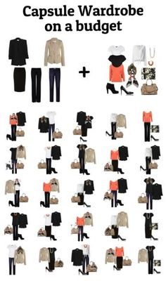 Budget capsule wardrobe - 25 outfits