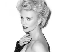charlize theron terry richardson hot1 Charlize Theron is Hot in Black & White for Esquire UK Shoot by Terry Richardson