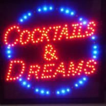 Our LED signs include a 5 foot cord with an on/off switch. Our signs include a plastic dust cover to keep the LED bulbs clean. Watch out for cheap versions that do not have the dust cover otherwise the bulbs collect dust and spider webs. Great for Bars, Basements, Dorms, or your Man Cave. HINT: ...