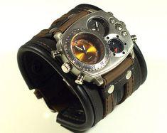 Mens wrist watch bracelet Tuareg-5 Steampunk Watches by dganin
