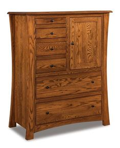 Amish Matison Gentleman's Chest of Drawers with Hidden Compartment The Matison offers lots of storage options for clothing and accessories. Its beautiful solid wood build will greet you with warmth and welcome every time you use it. Custom built in choice of wood and stain. Made in America. #gentlemans chest #bedroomchest #amishfurniture