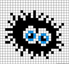 Totoro soot ball perler bead pattern