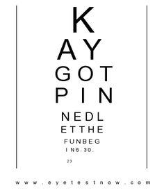 Create Your Free Eye Chart Just Like Hermann Snellen
