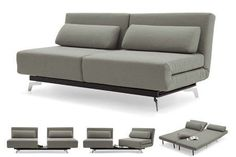 Apollo Grey Modern Futon Sofabed Sleeper The Apollo Modern Convertible Futon Sofabed Sleeper Grey will become the star of the show when you add it to any home! This swivel design is incredibly functional and has a modern look that adds sophistication to any home. The sofa seats convert to 2 twin beds or one king size bed. Swivel the chairs beds are loungers in any position from any angle.