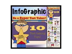 InfoGraphic, Poster, Test, Test-taking Tips, Test Strategies, Super Hero