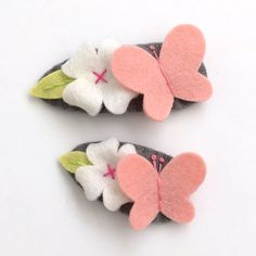 Girl Hair Clips, Pink Butterfly Toddler Hair Clip, Baby Hair Accessory, Infant Hair Clip, Little Girl Hair Clip, Baby Felt Clip