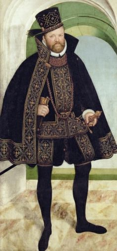 Lucas Cranach the Younger, Elector August of Saxony, after 1565--remarkably modern looking fellow.