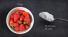 Bicarbonato de sodio con fresas