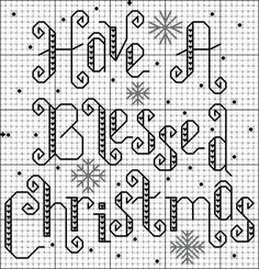Have a Blessed Christmas cross stitch