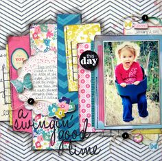Little Nugget Creations  Like the layered design and chevron background