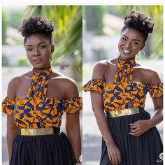 d0a925b9ab8 Ankara tops with peplum shape give a figure that blends through all the  curves of your