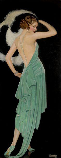 Vénus verte, 1929 Braitou Sala Une bien jolie femme, une robe superbe, et une expo très réussie