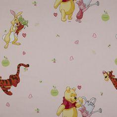 So cute to decorate your babyroom with this winnie de pooh curtain fabric - Kids Fabrics: www.kidsfabrics.eu