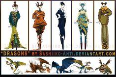Dragons by Sashiiko-Anti on deviantART