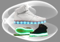 chaussures led, baskets lumineuses #heartjacking www.heartjacking.com