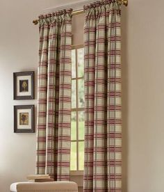 Greenwich Plaid Lined Rod Pocket Curtains Was: $119.95 - $144.95                         Now: $95.96 - $115.96