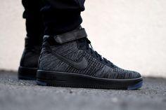 "Nike Air Force 1 Ultra Flyknit ""Black/Grey"""