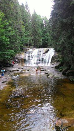 Krkonoše - Mumlavské vodopády Waterfall Fountain, Czech Republic, Waterfalls, Rivers, All Over The World, Outdoor, Outdoors, River, Outdoor Games