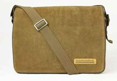 Manhandled Suede Messenger Bags by MetroMen