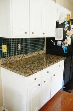DIY: Faux Granite Countertops  I think I like this tutorial best