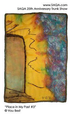 Art quilt by Vou Best #artquilts #SAQA