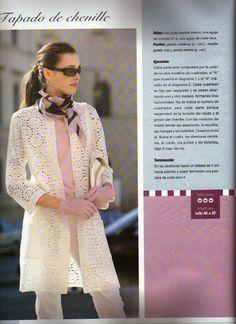 Patrones Crochet: Chaqueta Abrigo Crochet Patron