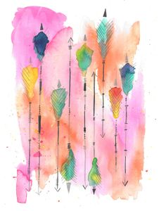 feather + arrow two (art print)