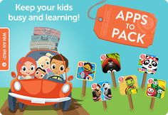 A good app for summer excursion! Keep your kids busy during the road trip while learning Chinese!