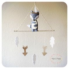 Baby Mobile - Wolf Baby Mobile - Modern Baby Mobile - Gold nd White Nursery - Tribal Arrow Neutral Grey baby mobile - Neutral Baby Mobile by FaunaLune on Etsy https://www.etsy.com/listing/236752634/baby-mobile-wolf-baby-mobile-modern-baby