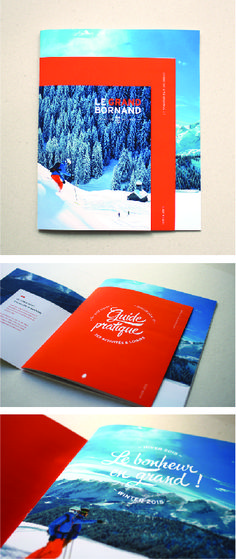 """""""Happiness in greater""""  Draft season brochure for the ski resort of Le Grand Bornand by Grapheine"""