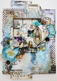 Kelly Foster: All The Pretty Things: Mixed Media Canvas - Step By Step Tutorial!