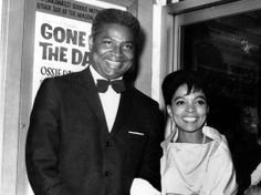 Ossie Davis and Ruby Dee at the opening night gala of their film Gone Are the Days! in 1963.