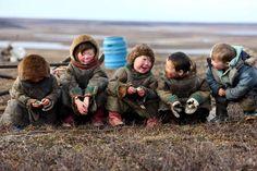 Children's smile in Life behind polar circle