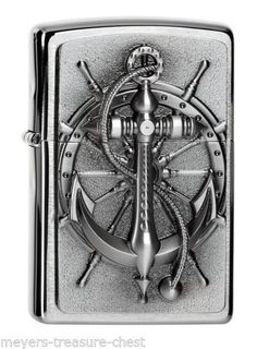 Zippo Lighter Nautical Anchor Emblem with or without accessories for Choice New OVP