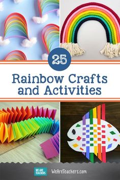 25 Brilliant Rainbow Crafts and Activities Rainbow Slime, Rainbow Crafts, Crafts For Teens, Diy And Crafts, Arts And Crafts, Kids Crafts, Paper Spinners, Colorful Slime, Growing Crystals