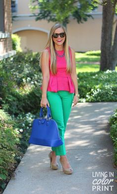 pink top and cropped pants