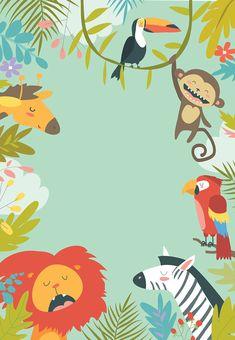 Safari Invitation Template Free Awesome Wild Animals Birthday Invitation Template Free In 2020 Party Animals, Animal Party, Birthday Invitation Card Template, Kids Birthday Party Invitations, Birthday Invitation Background, Jungle Theme Birthday, Animal Birthday, Safari Party, Safari Invitations