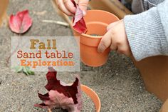 cute and peculiar: Fall sand play {Kids Co-op}