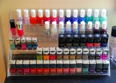 id es de rangement on pinterest nail polish ranger and nail polish shelves. Black Bedroom Furniture Sets. Home Design Ideas