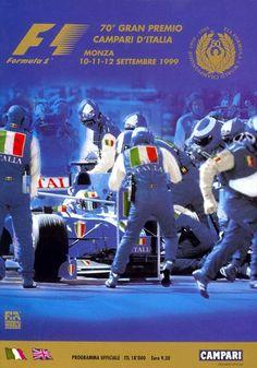 Italian Grand Prix / Monza / 1999 – Sport is lifre Automobile, Italian Grand Prix, Monaco Grand Prix, Car Posters, Car Drawings, Automotive Art, Vintage Racing, Formula One, Race Cars