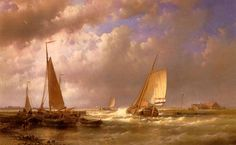 Hulk_Abraham_Dutch_Barges_At_The_Mouth_Of_An_Estuary