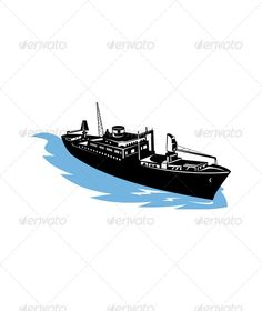 Realistic Graphic DOWNLOAD (.ai, .psd) :: http://jquery-css.de/pinterest-itmid-1005213355i.html ... Cargo Ship at Sea ...  boat, cargo, cargo ship, illustration, isolated, mast, ocean, sea, ship, transportation, vessel, water  ... Realistic Photo Graphic Print Obejct Business Web Elements Illustration Design Templates ... DOWNLOAD :: http://jquery-css.de/pinterest-itmid-1005213355i.html