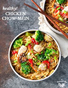 Quick and Healthy Chicken Chow Mein on MyRecipeMagic.com